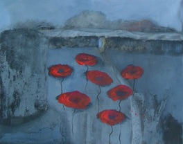 Poppies In Pevensey Castle